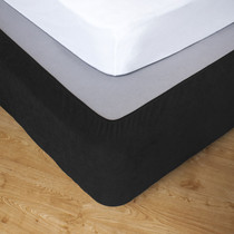 Ebony Queen Bed Stretch Bed Wrap Valance