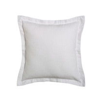 Ascot White Square Filled Cushion