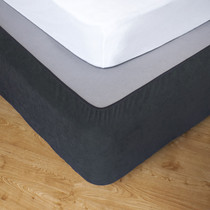 Slate King Single Bed Stretch Bed Wrap Valance