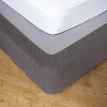Taupe King Bed Stretch Bed Wrap Valance