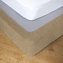 Flax King Bed Stretch Bed Wrap Valance