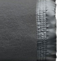 Charcoal King Bed Wool Blanket