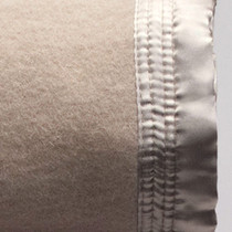 Mocha Single Bed Wool Blanket