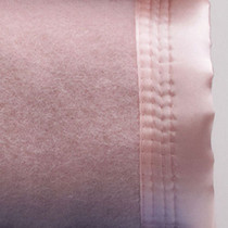 Dusty Pink Single Bed Wool Blanket