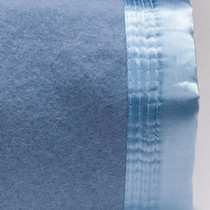 Steel Blue Double Bed Wool Blanket