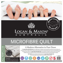 Logan and Mason Microfibre Single Bed Quilt