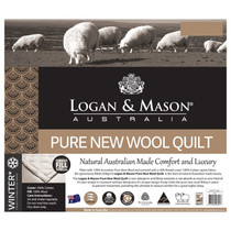 Logan and Mason Queen Bed Wool Quilt