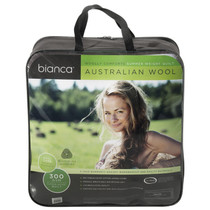 Queen Bed Australian Wool Summer Quilt