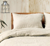 Doux 100% Linen Natural Quilt Cover Set by Jenny Mclean
