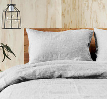 Doux 100% Linen Grey Quilt Cover Set by Jenny Mclean