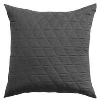 Bianca Vivid Coordinate Charcoal European Pillowcase | My Linen