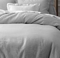 Doux 100% Linen Grey Quilt Cover Set