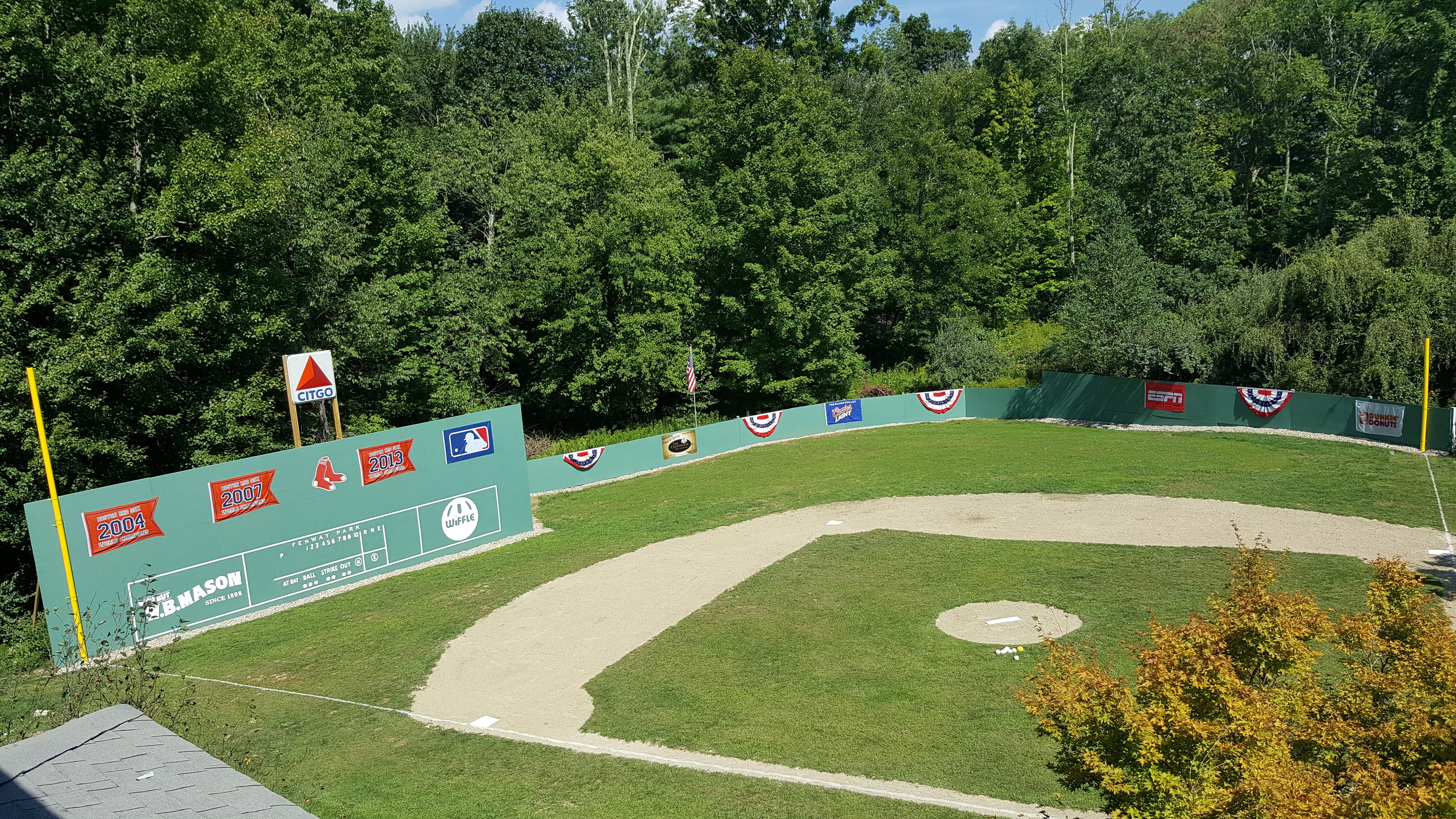 wonderful baseball field in backyard part 1 backyard baseball