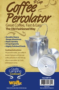 Camping Coffee Percolator 9 Cup Pot