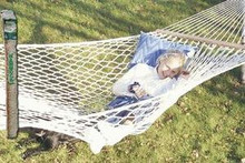 Premium extra wide large cotton deluxe hammock 350lb limit