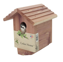 Cedar Bird House Home 4 Pack