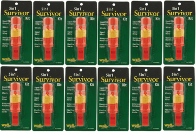 5-in-1 Survival Hiking Kit 12 Pack Wholesale Lot