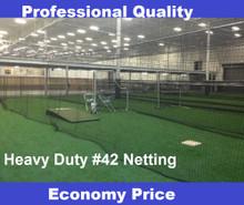 Baseball Batting Cage  54ply #42 Twine Heavy Duty Net Netting with Optional Door