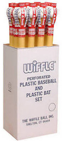 Wiffle ball and bat floor display case 1 dozen