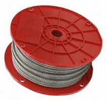 """Baseball Batting Cage Cable 1/8"""" Galvanized Aircraft Cable"""
