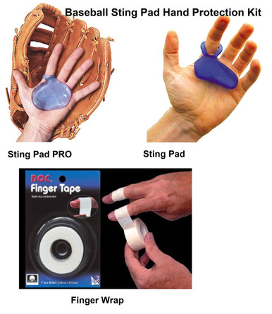 Baseball glove sting pad hand protection kit reducer stopper stinger