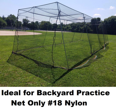 Backyard batting  cage net netting #18 Nylon