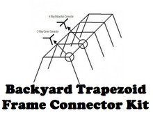 Backyard Baseball Batting Cage Frame Kit Trapezoid Light Duty for #18 and #21 Nets