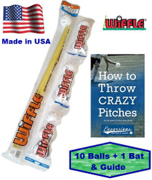 wiffle bat and ball combo with pitching guide