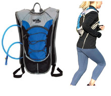 hydration backpack pack with 2 liter water bladder for running hiking biking cycling