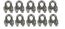 Cable Clamps 1/8 inch 10 pack Galvanized U Bolts