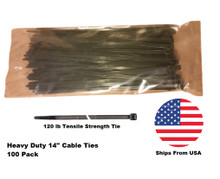Heavy duty cable ties 14 inch zip ties 100 pack