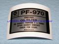 Label, PF970 Oil Filter, 90~95 [12B4]
