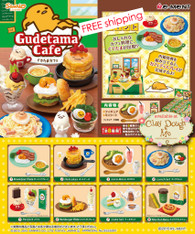 Re-ment Gudetama CAFE, with Cafe PAPER BACKGROUND