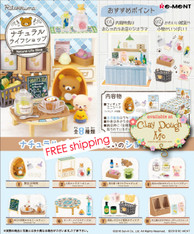 NOV'18 Re-ment Rilakkuma Natural Life Shop, with PAPER BACKGROUND
