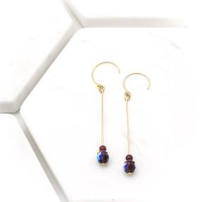 Garnet Long Dangle Earrings