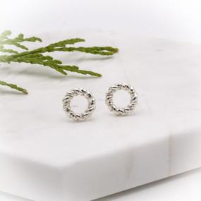 Hannah Rope Wreath Stud Earrings - hesmarieH TREASURE
