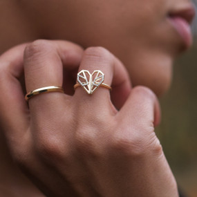 Piece of my Heart Statment Ring - hesmarieH