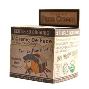 Certified USDA Organic Men's Face Cream