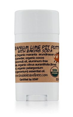 Geranium Lime Pit Putty Deodorant Stick