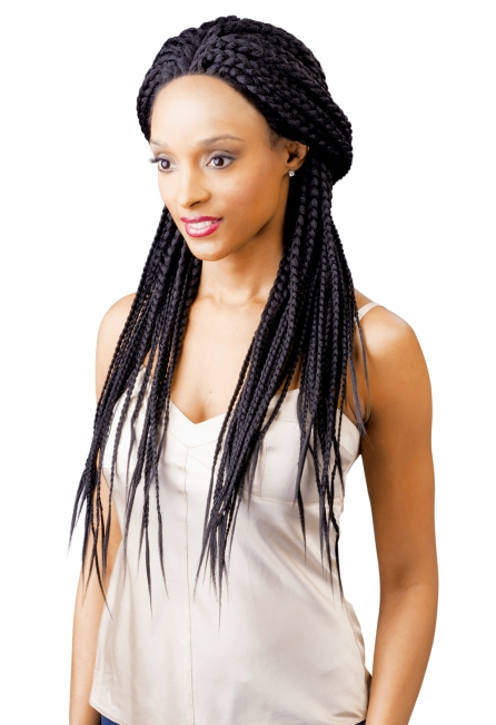 Magic Braided Lace Front Wig w/Baby Hair Box Braid MLB21
