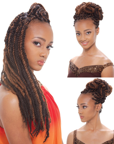 Janet Collection Synthetic Hair Noir Afro Twist Braid
