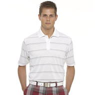 Callaway Mens Chev Mesh Striped Golf Polo White/HighRise Med