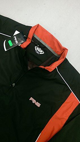 Ping Mens Tornado Waterproof Golf Jacket Black Red XXL