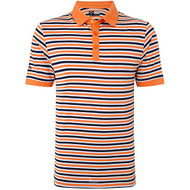 Callaway Mens Chev Striped Golf Polo Shirt Carrot Med