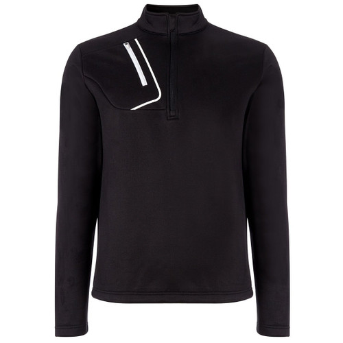 Callaway Golf Mens 1/4 Zip Fleece Lined Pullover Caviar Med