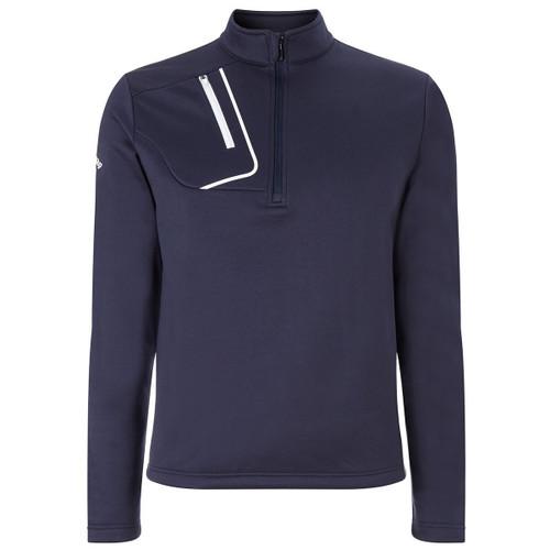 Callaway Golf Mens 1/4 Zip Fleece Lined Pullover Peacoat Med