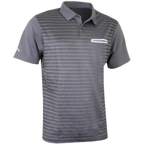 Callaway Golf Mens Ombre Pocket Polo Quietshade Med
