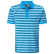 Callaway Golf Mens Fine Line Striped Polo Cloissone Med