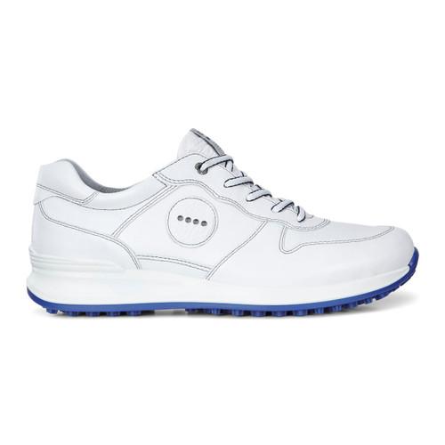 Ecco Mens Golf Speed Hybrid Shoes White/Royal