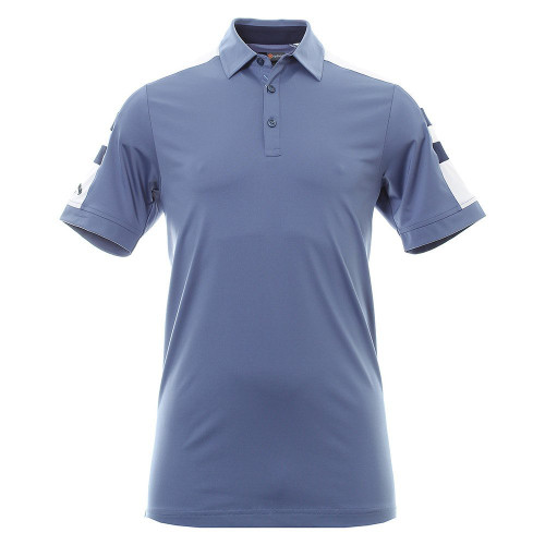 Callaway Golf Mens Contrast Shoulder Block Polo Shirt Moonlight Blue